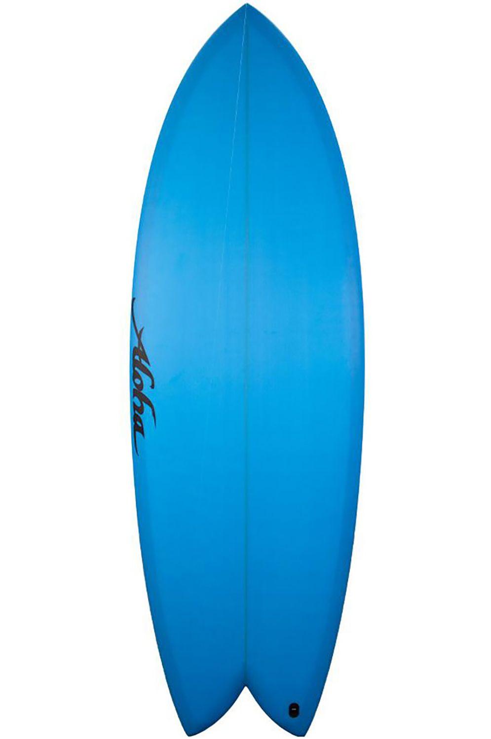 Prancha Surf Aloha 5'10 KEEL TWIN LT. BLUE OPAQUE Fish Tail - Color FCS II Twin Tab 5ft10
