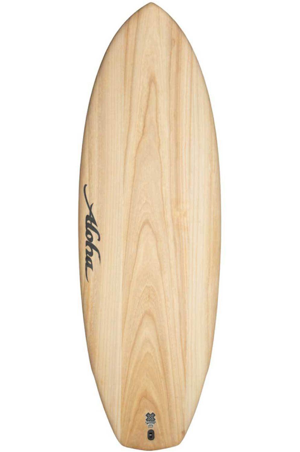Prancha Surf Aloha 5'8 BLACK PANDA ECOSKIN Squash Tail - White FCS II Multisystem 5ft8