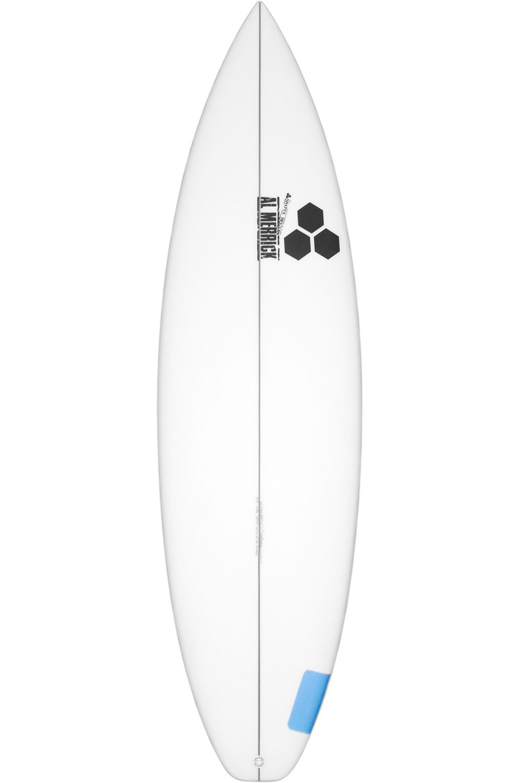Prancha Surf Al Merrick 5'8 HAPPY Squash Tail - White FCS II 5ft8
