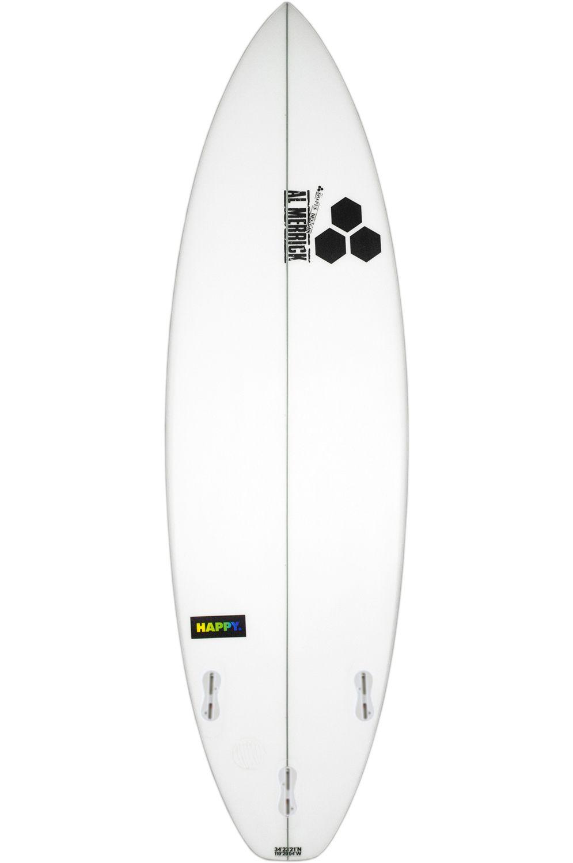 Prancha Surf Al Merrick HAPPY 6'1 Squash Tail - White FCS II 6ft1