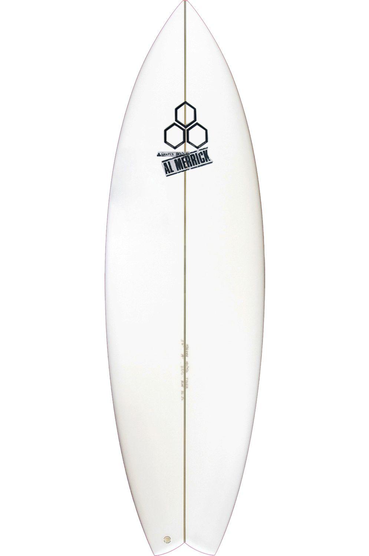 Prancha Surf Al Merrick 5'7 ROCKET WIDE Swallow Tail - White FCS II 5ft7