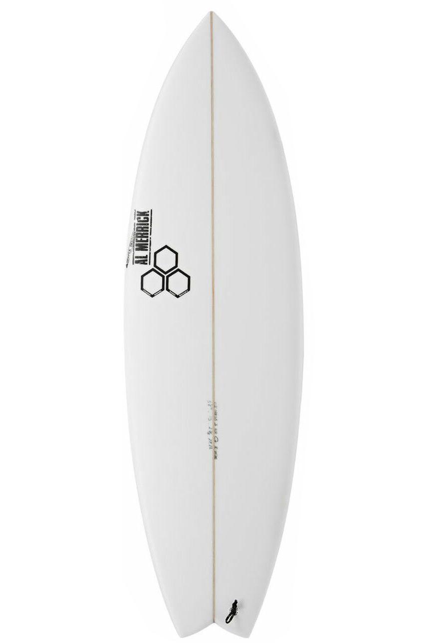Prancha Surf Al Merrick 5'11 ROCKET WIDE Swallow Tail - White FCS II 5ft11