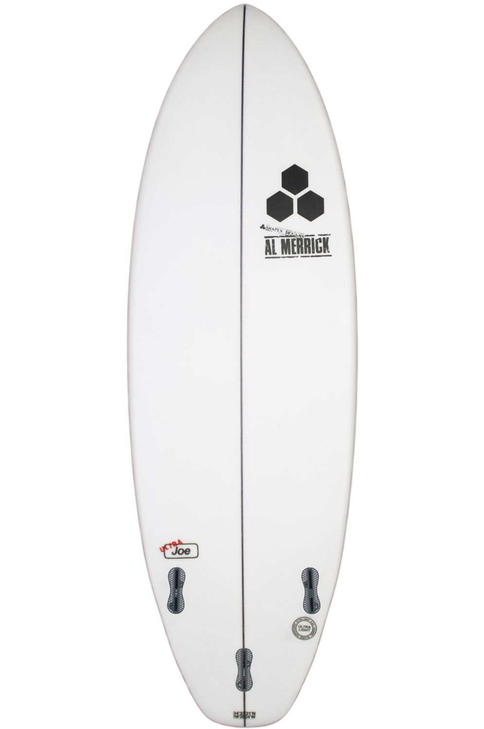 Prancha Surf Mar SEAWOLF 5'5 Round Pin Tail White FCS II Multisystem 5ft5
