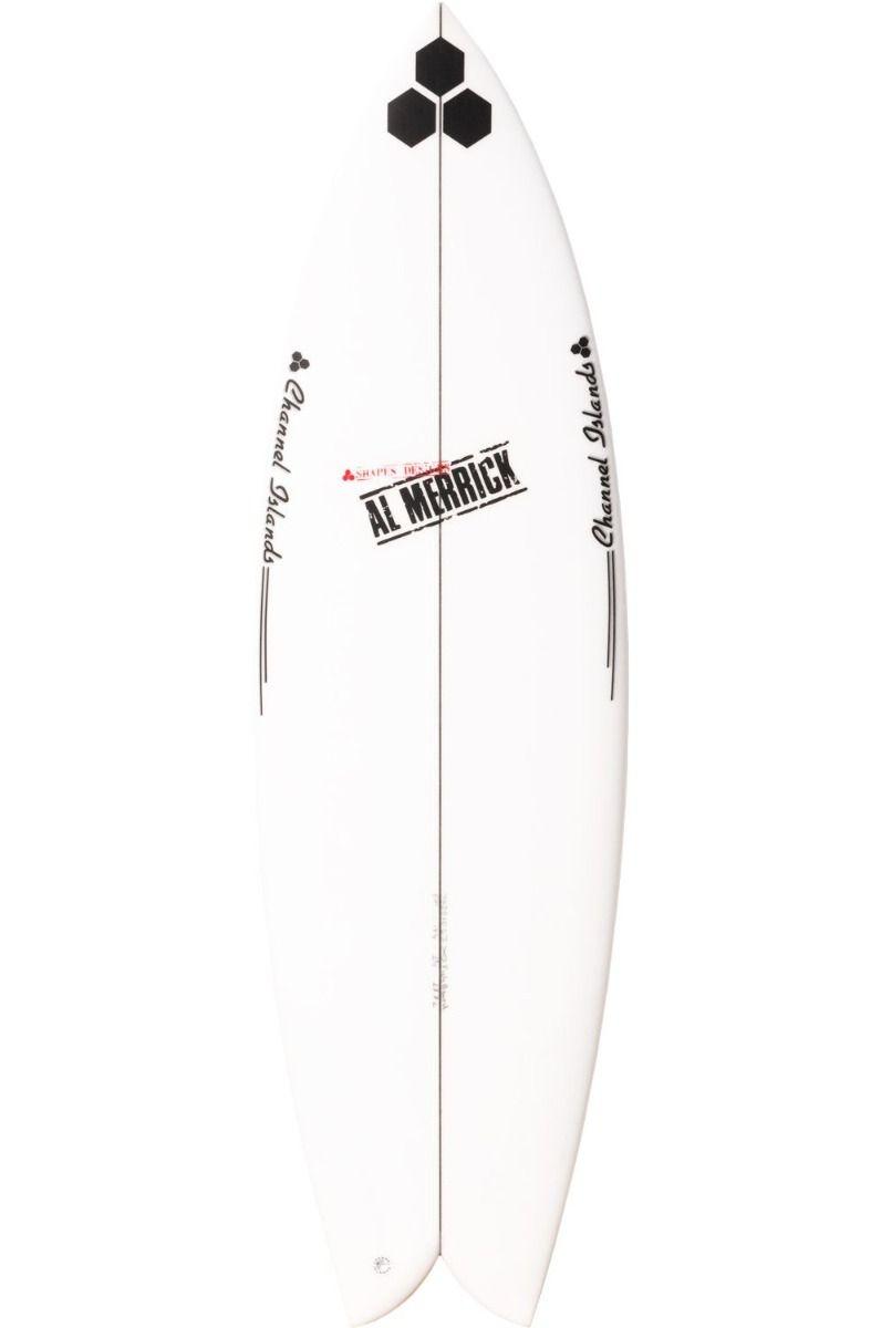 Al Merrick Surf Board 5'6 FISHBEARD Fish Tail - White FCS II Twin Tab 5ft6
