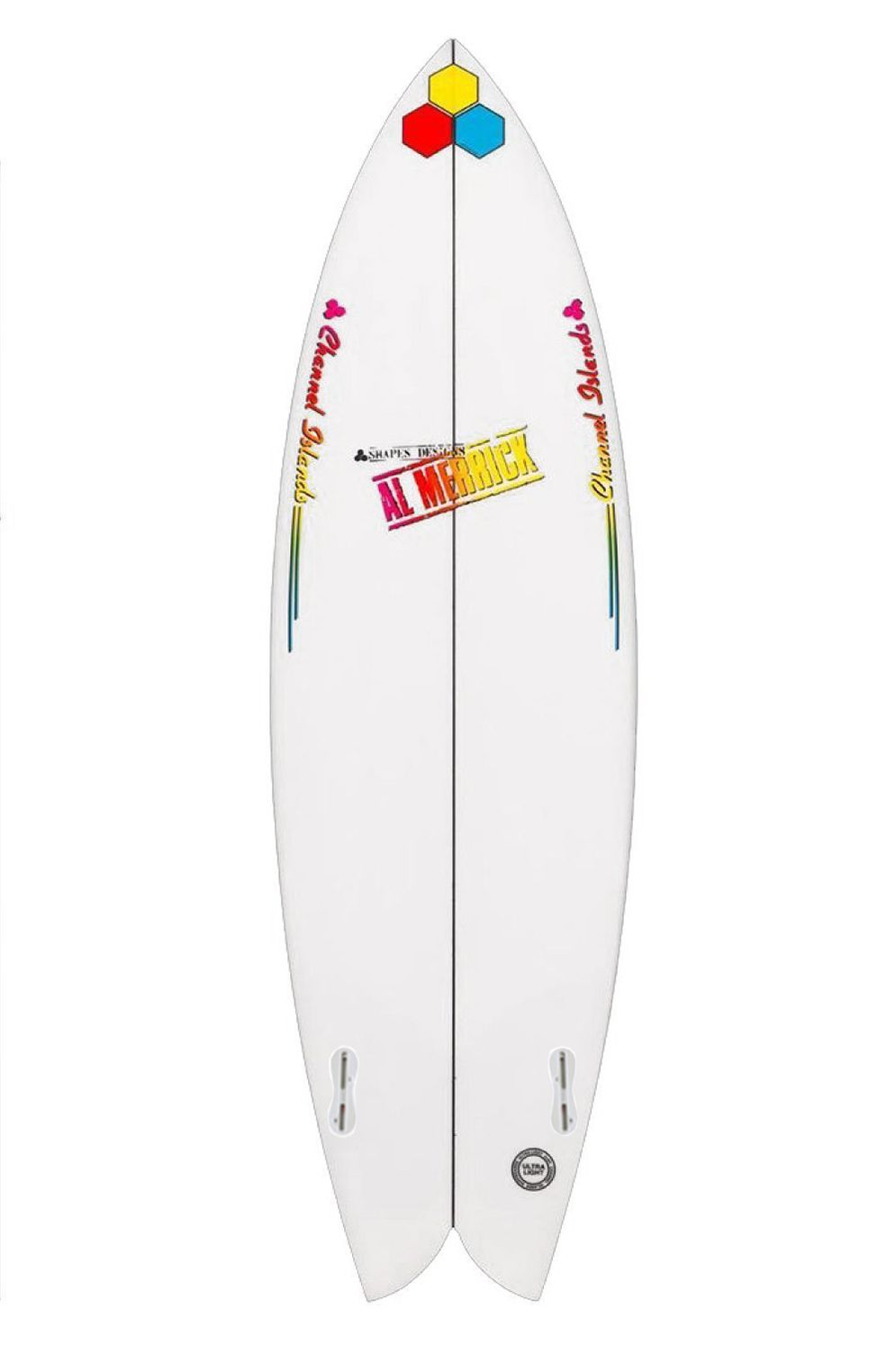 Prancha Surf Al Merrick FISHBEARD 5'11 Fish Tail - White FCS II Twin Tab 5ft11