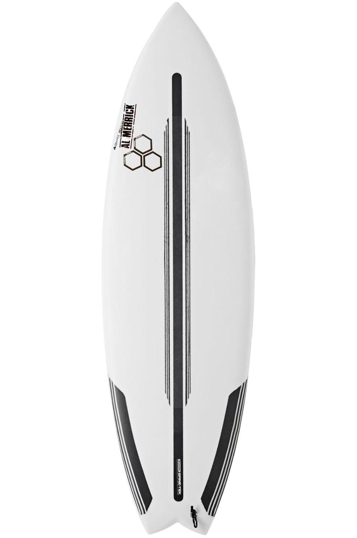 Prancha Surf Al Merrick 5'8 ROCKET WIDE SPINE-TEK Swallow Tail - White FCS II Multisystem 5ft8