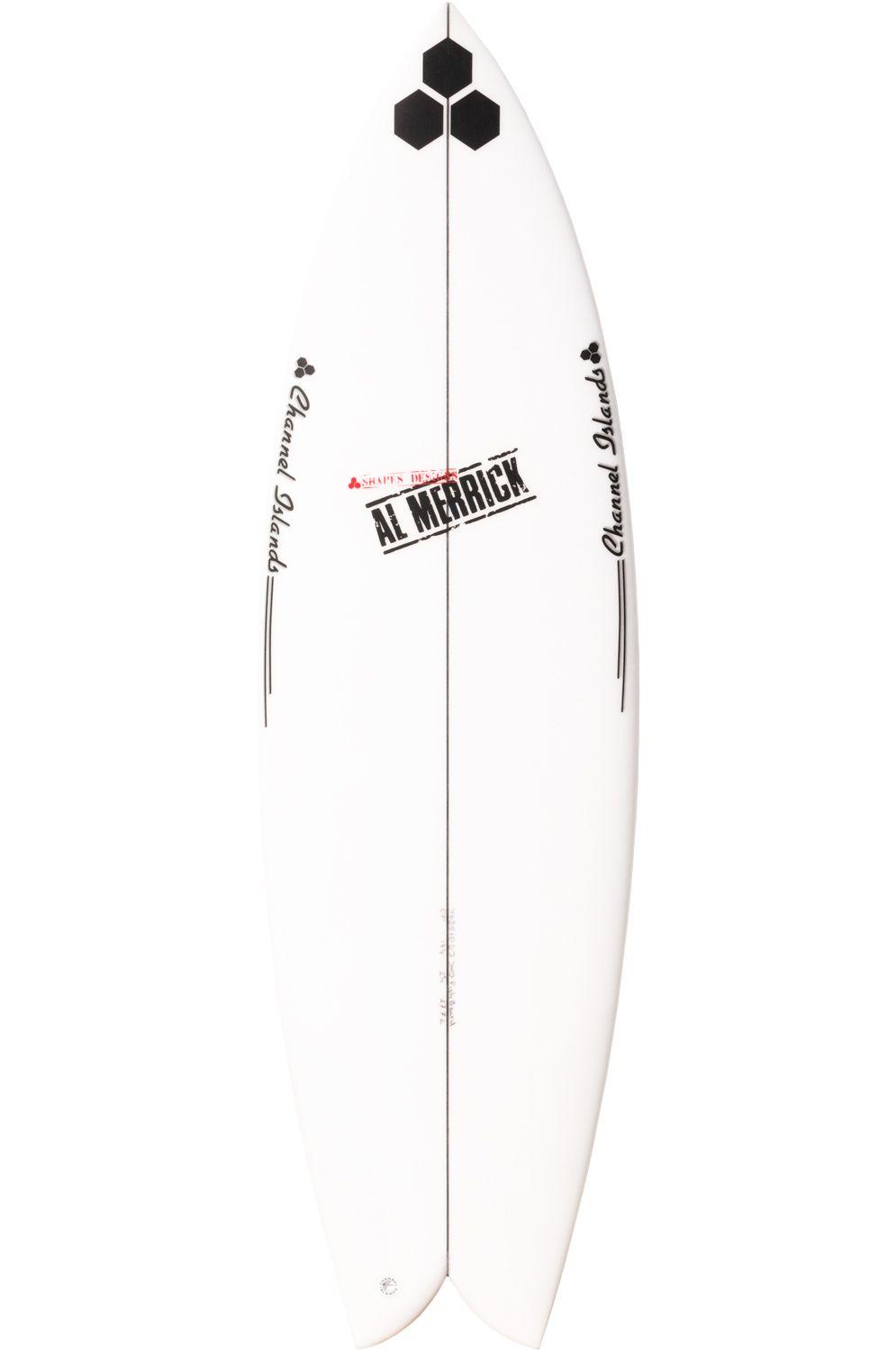 Al Merrick Surf Board 5'9 FISHBEARD Fish Tail - White Futures Twin 5ft9