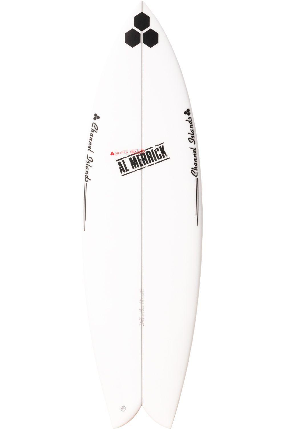 Prancha Surf Al Merrick FISHBEARD 5'10 Fish Tail - White Futures Twin 5ft10
