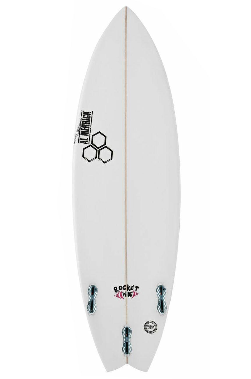 Prancha Surf Al Merrick ROCKET WIDE 5'5 Swallow Tail - White FCS II 5ft5