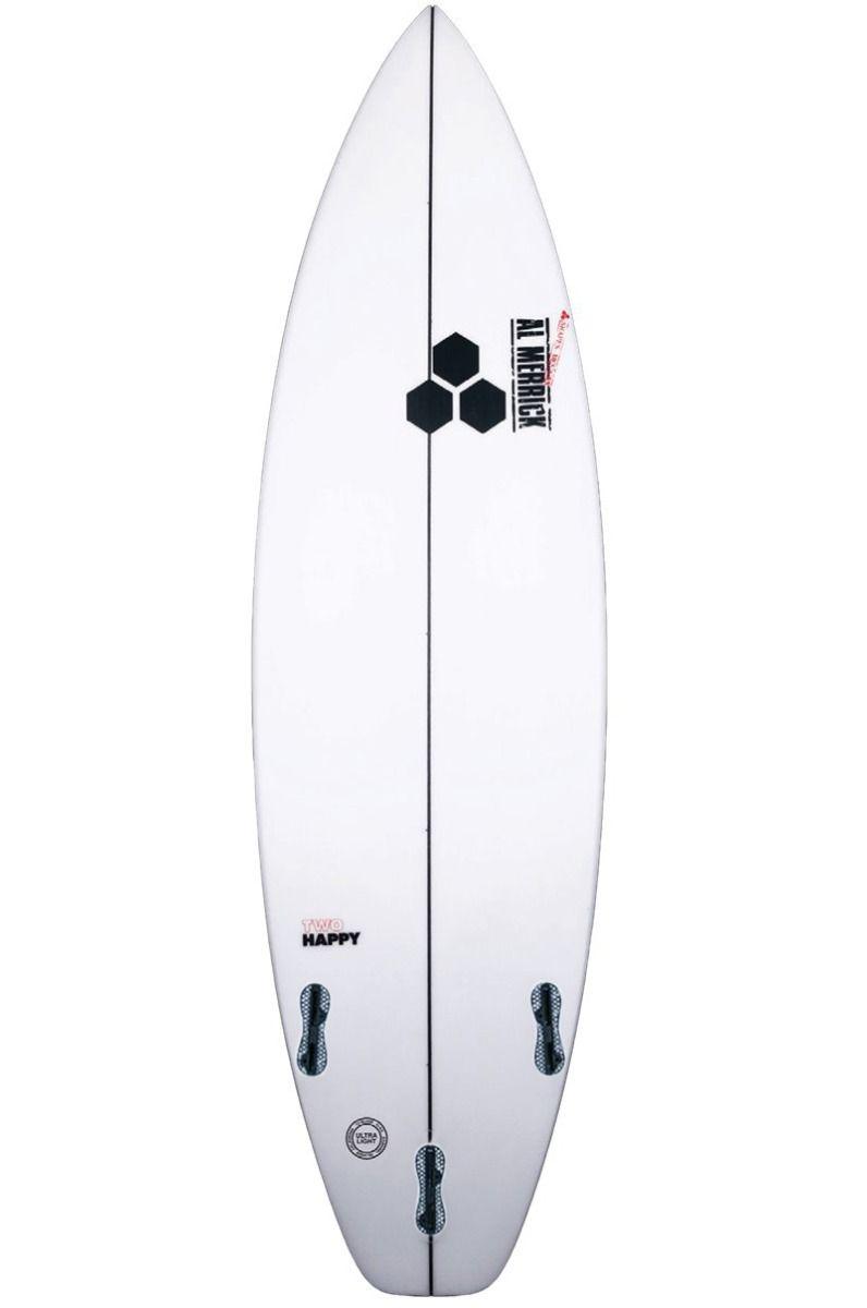 Prancha Surf Al Merrick 5'8 TWO HAPPY Squash Tail - White FCS II 5ft8