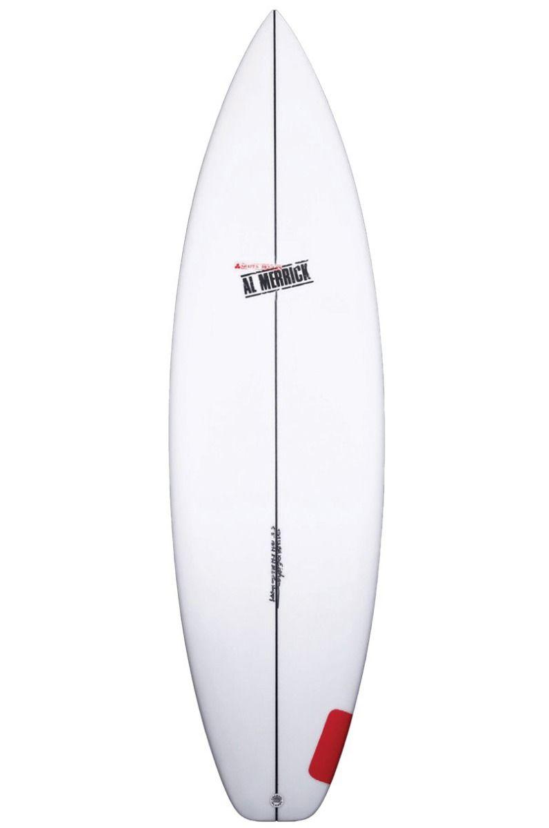Al Merrick Surf Board 5'9 TWO HAPPY Squash Tail - White FCS II 5ft9