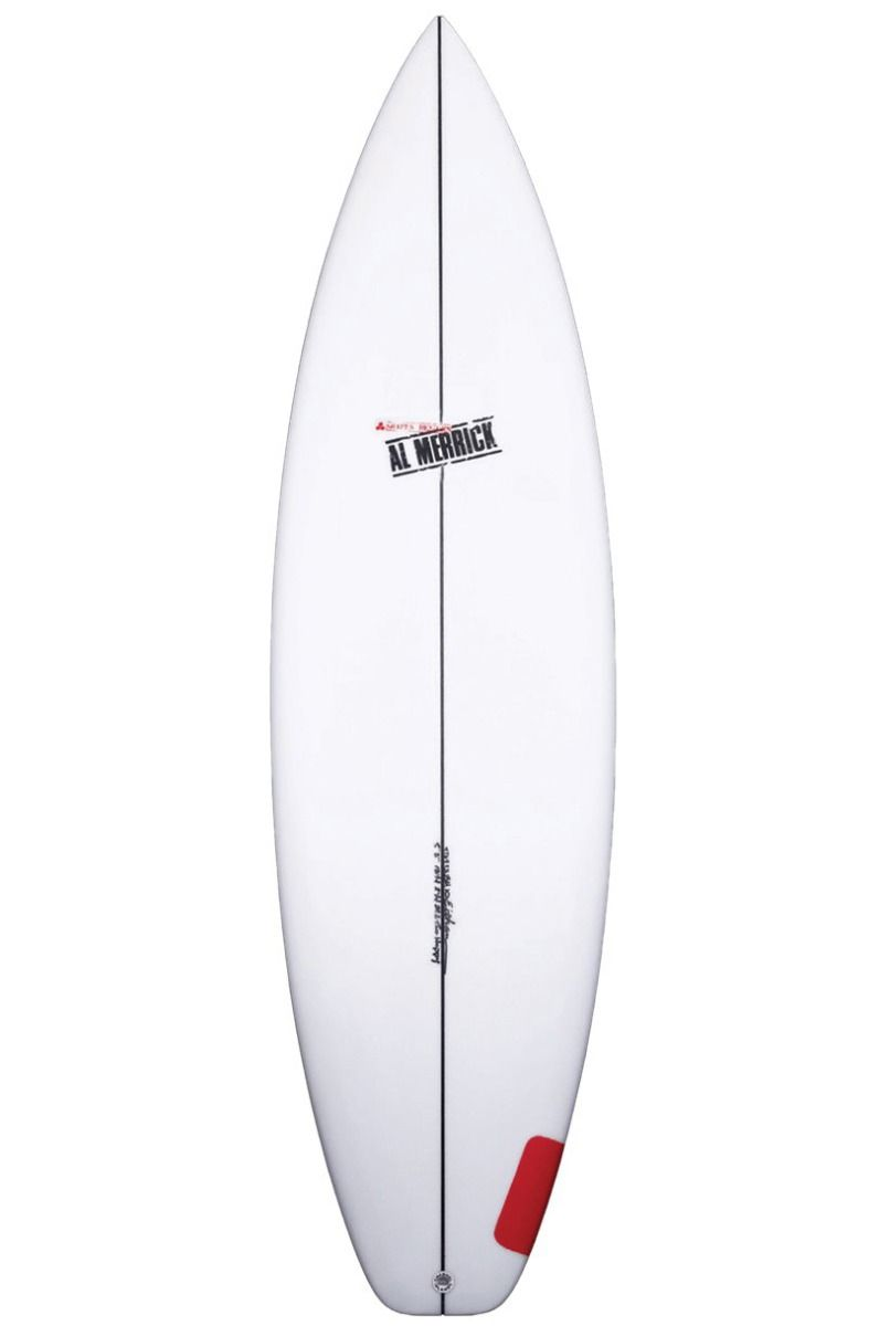 Al Merrick Surf Board 5'10 TWO HAPPY Squash Tail - White FCS II 5ft10