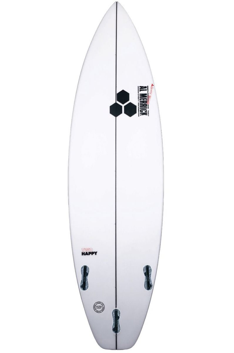 Prancha Surf Al Merrick TWO HAPPY 6'1 Squash Tail - White FCS II 6ft1