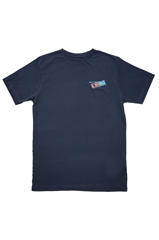 T-Shirt Al Merrick AL STAMP FADE SS Dress Blue