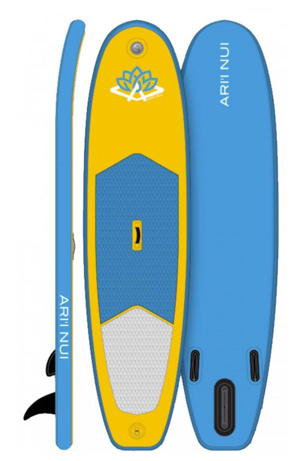 Ari'I Nui Surf Board 10'0 MAHANA SUP INFLATABLE Yellow Indefinido 10ft