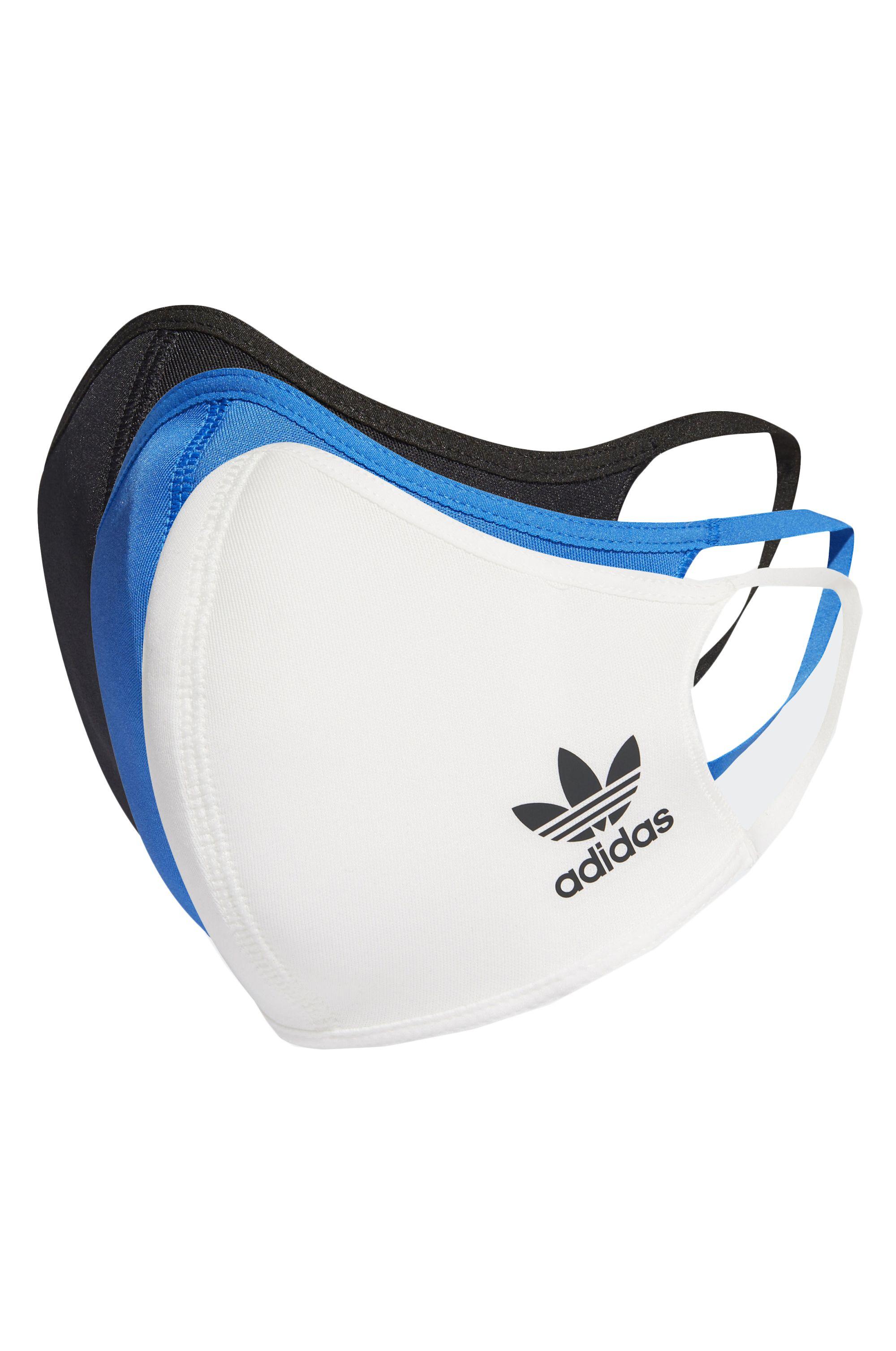 DV Adidas Máscara BOS SMALL MULTI 3PK Black/Blue/White