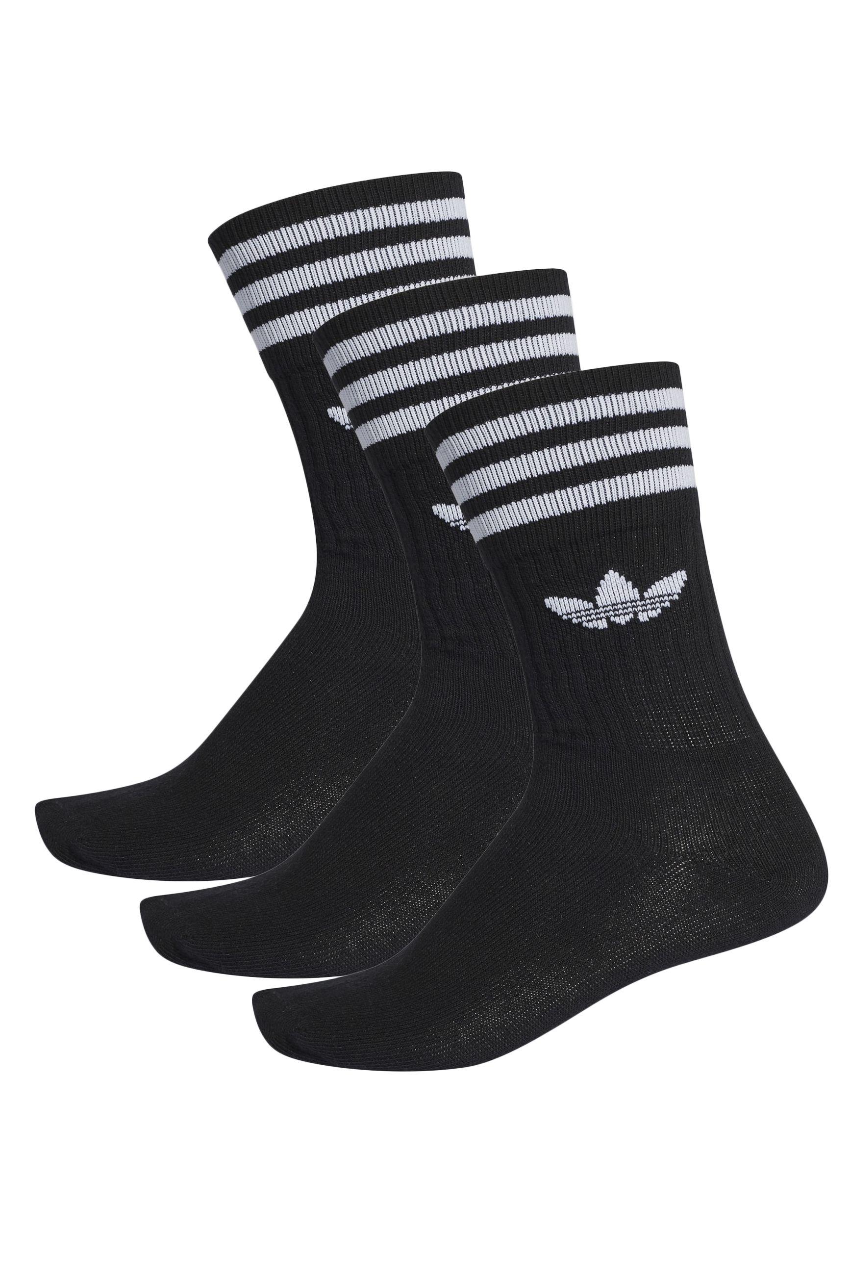 Adidas Socks SOLID CREW SOCK Black/White