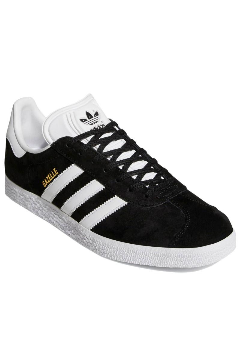 Tenis Adidas GAZELLE J Core Black/Ftwr White/Gold Met.