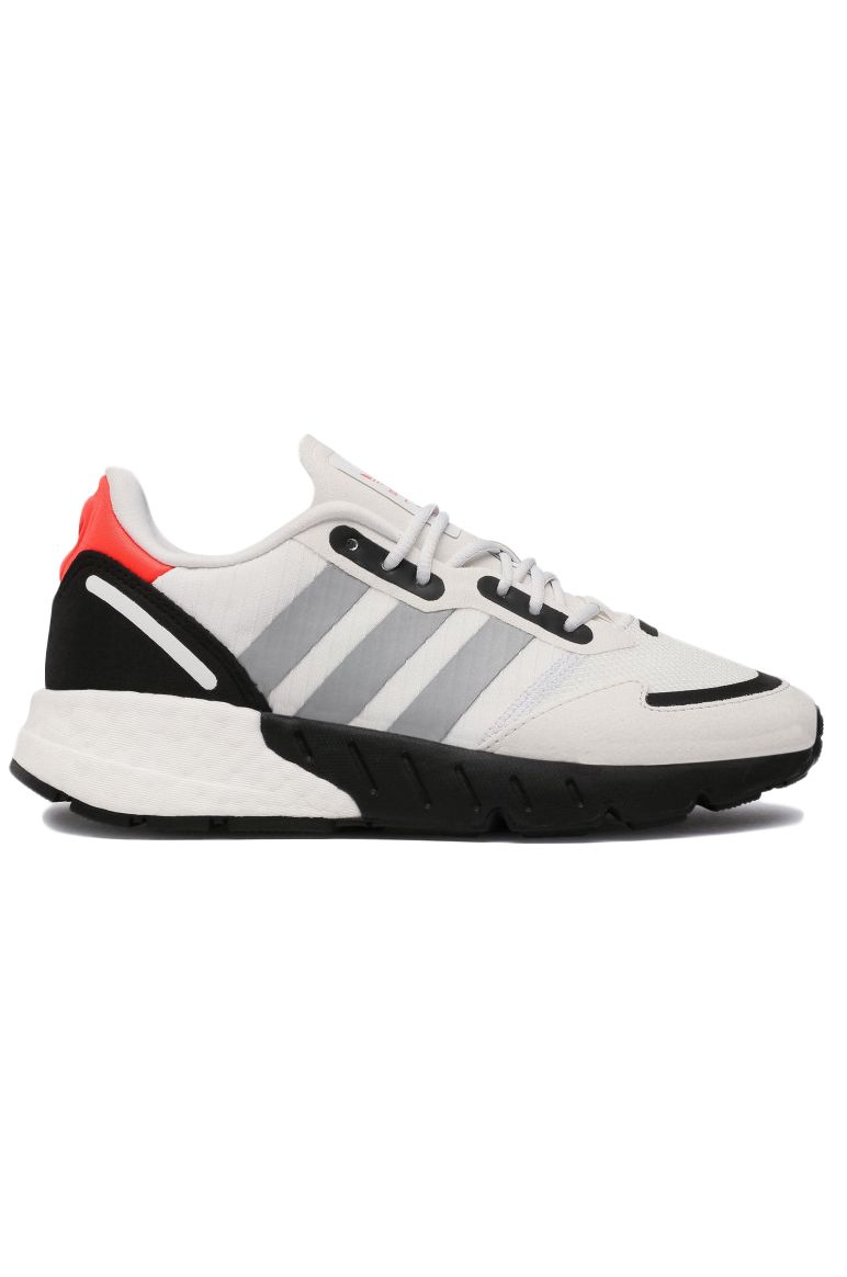 Adidas Shoes ZX 1K BOOST J Crystal White/Silver Met./Core Black