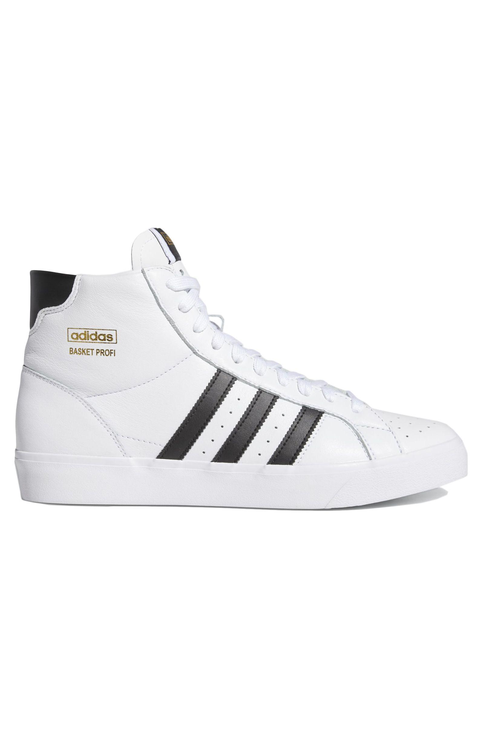 Adidas Shoes BASKET PROFI J Ftwr White/Core Black/Gold Met.