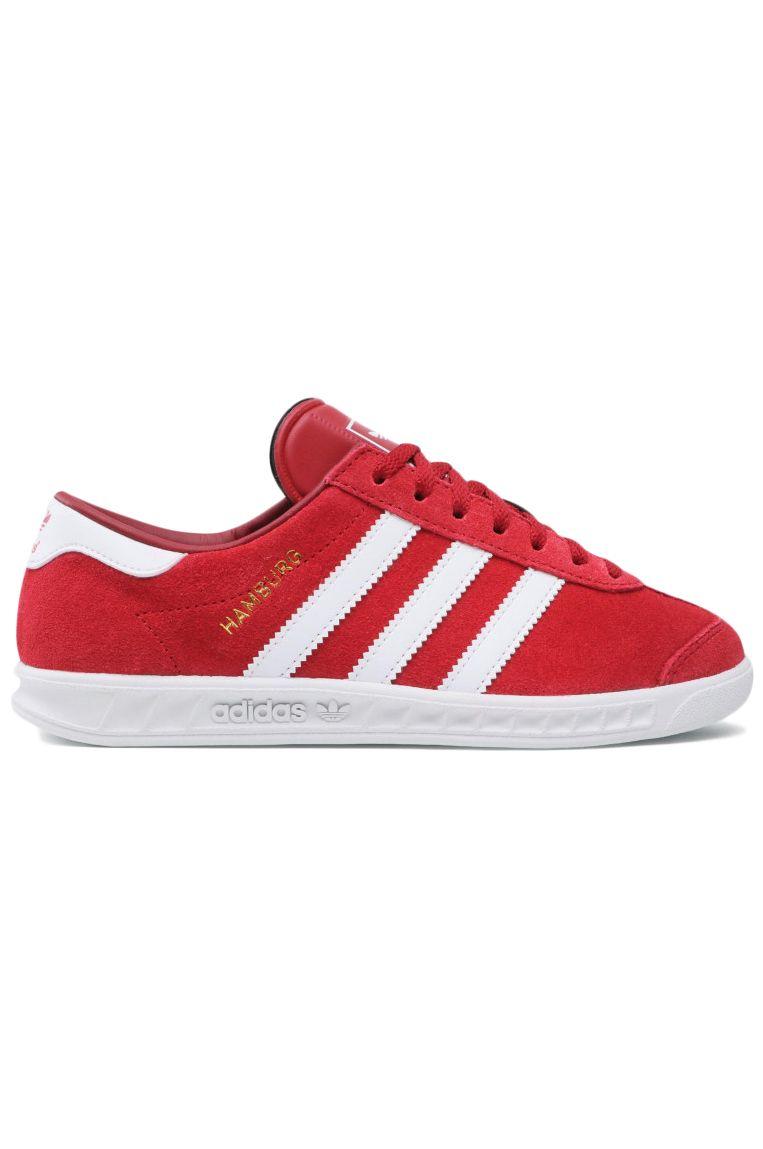 Adidas Shoes HAMBURG J Team Victory Red/Ftwr White/Team Victory Red