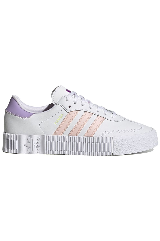 Tenis Adidas SAMBAROSE W Ftwr White/Haze Coral/Shock Purple