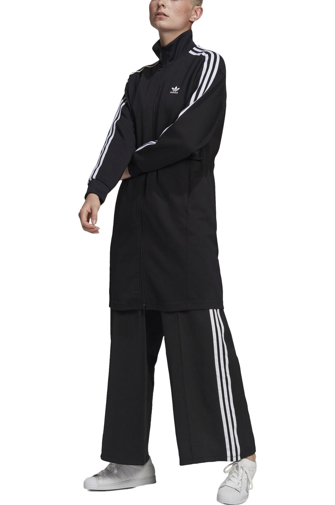 Adidas Sweat Zip Hood LONG TRACKTOP Black