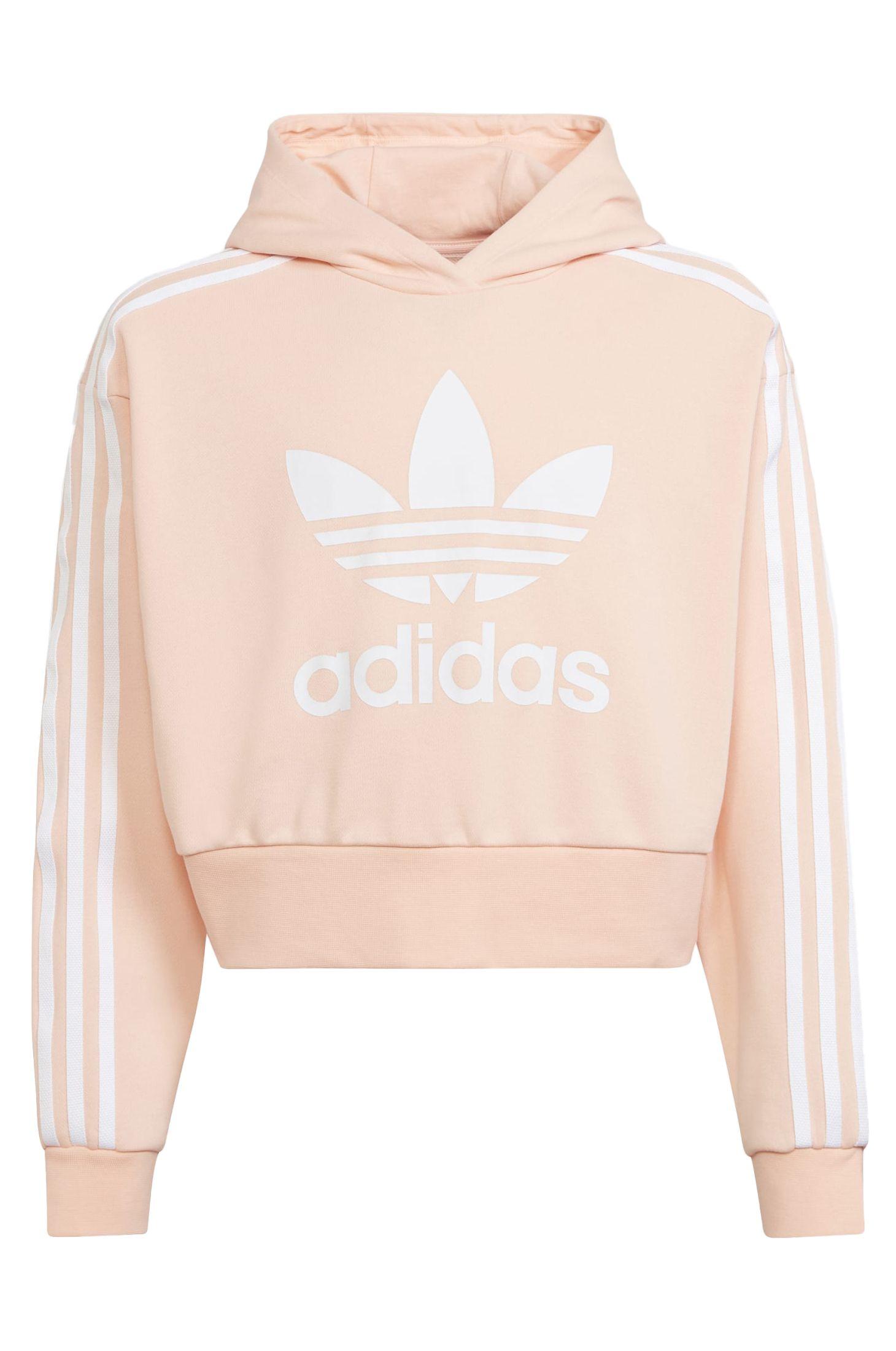 Adidas Sweat Hood ADICOLOR CROPPED HOODIE Haze Coral/White