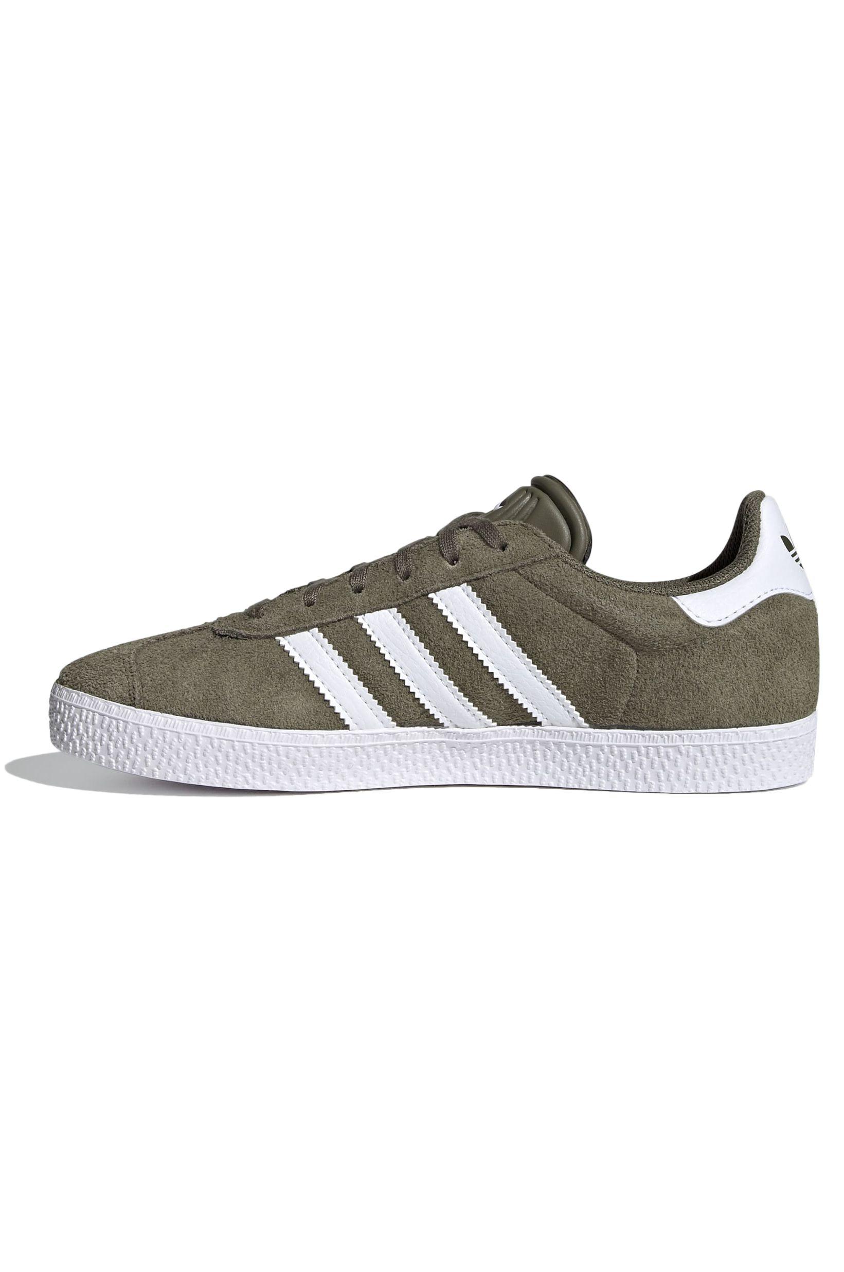 Tenis Adidas GAZELLE J Raw Khaki/Ftwr White/Ftwr White
