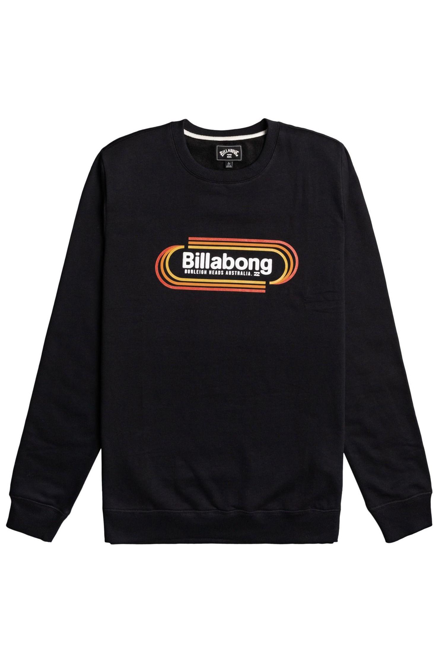 Billabong Crew Sweat ROAD STOP CR SPORTING GOOD PROGR. Black
