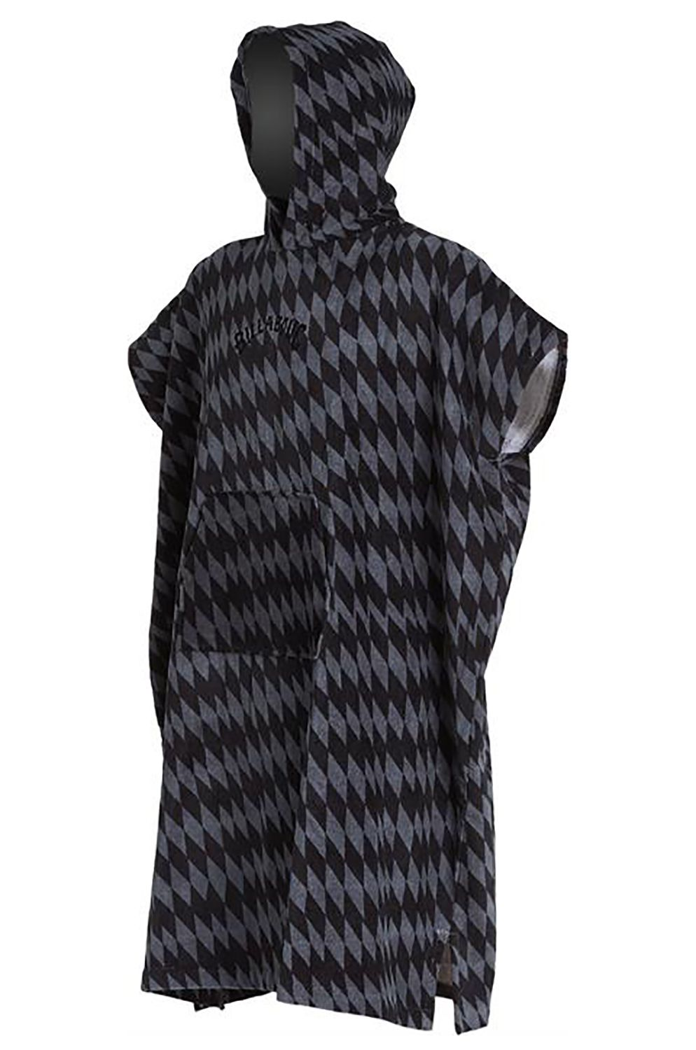 Poncho Billabong HOODED Grey Diamonds