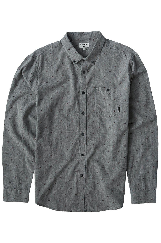Camisa Billabong ALL DAY JAQUARD LS Pewter
