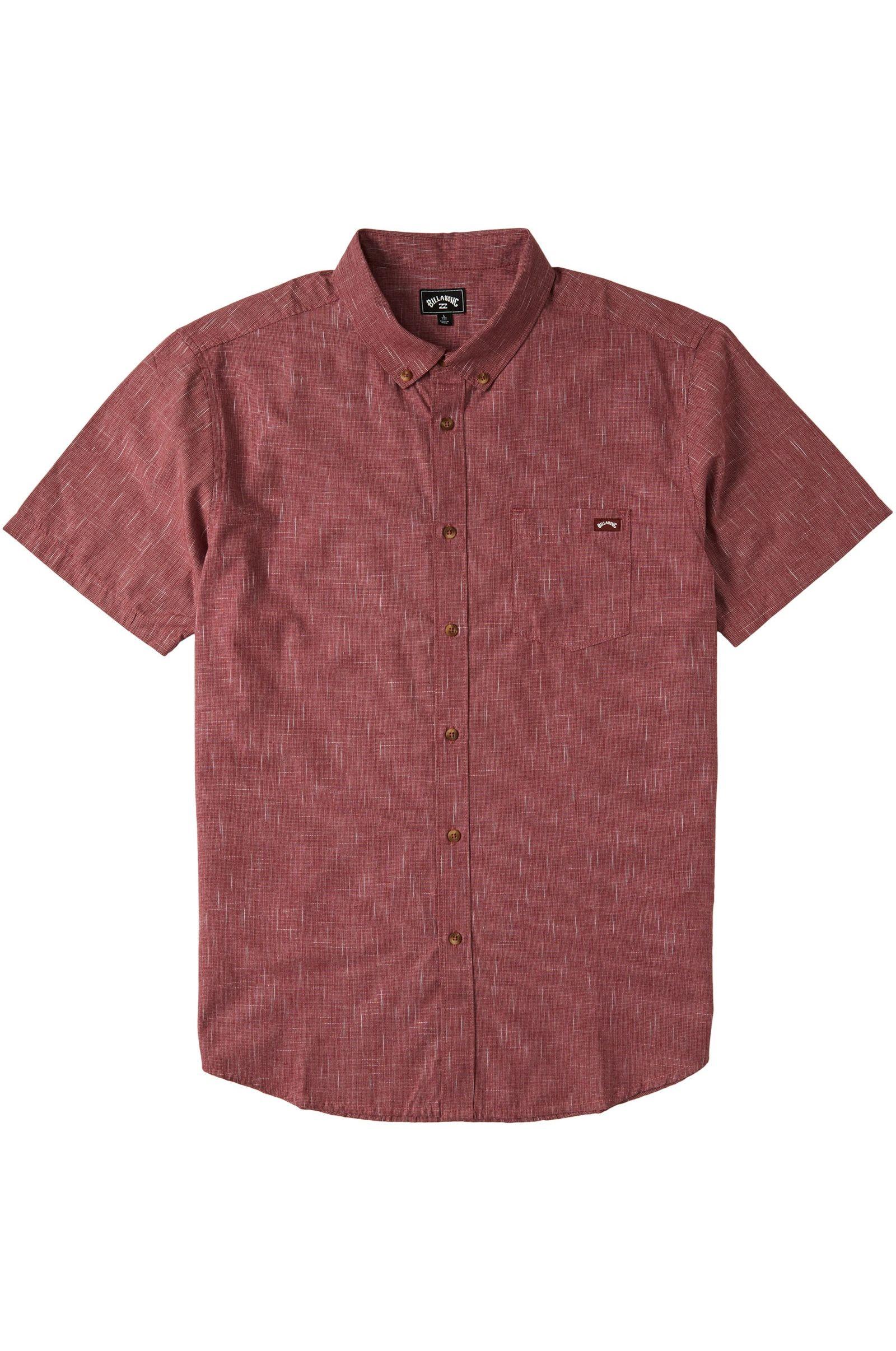 Billabong Shirt ALL DAY SS Oxblood