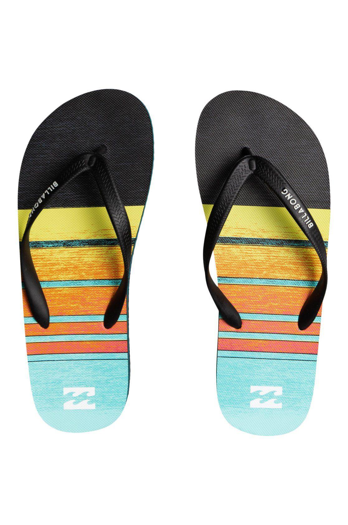 Billabong Sandals TIDES 73 STRIPE Neon