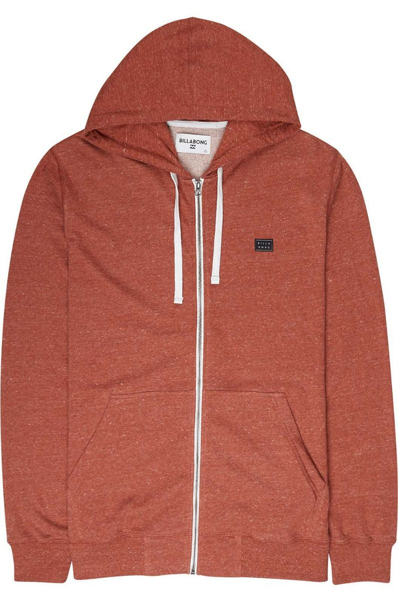 Sweat Fecho Billabong ALL DAY Rustic Red