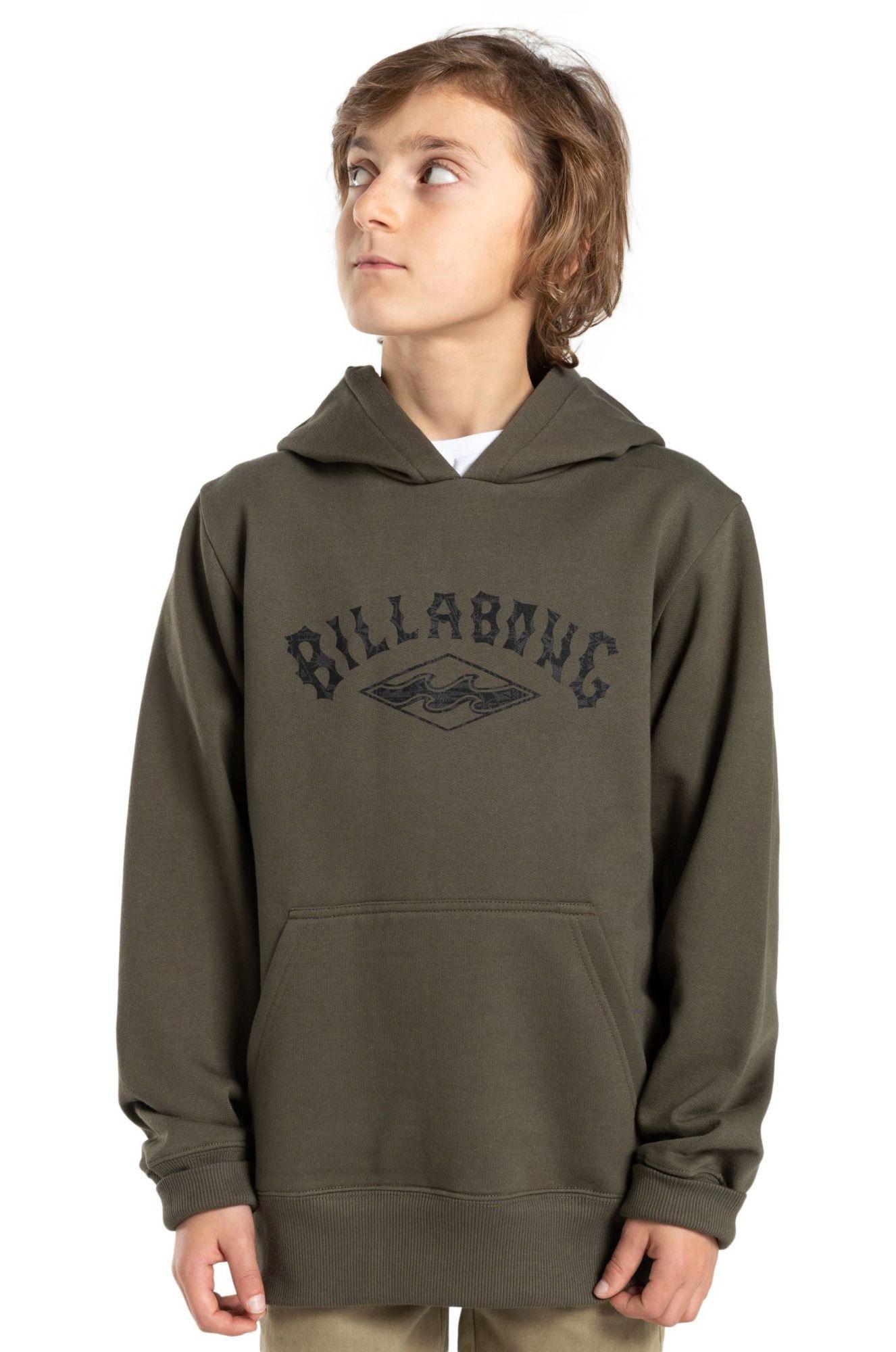 Billabong Sweat Hood ARCH ORIGIN PO BOY SPORTING GOOD PROGR. Military