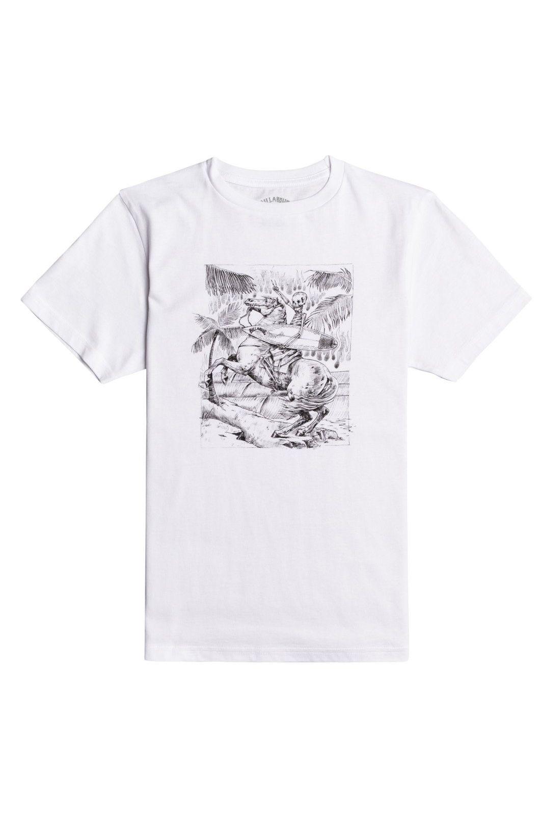 T-Shirt Billabong HELL RIDE SS BOY White