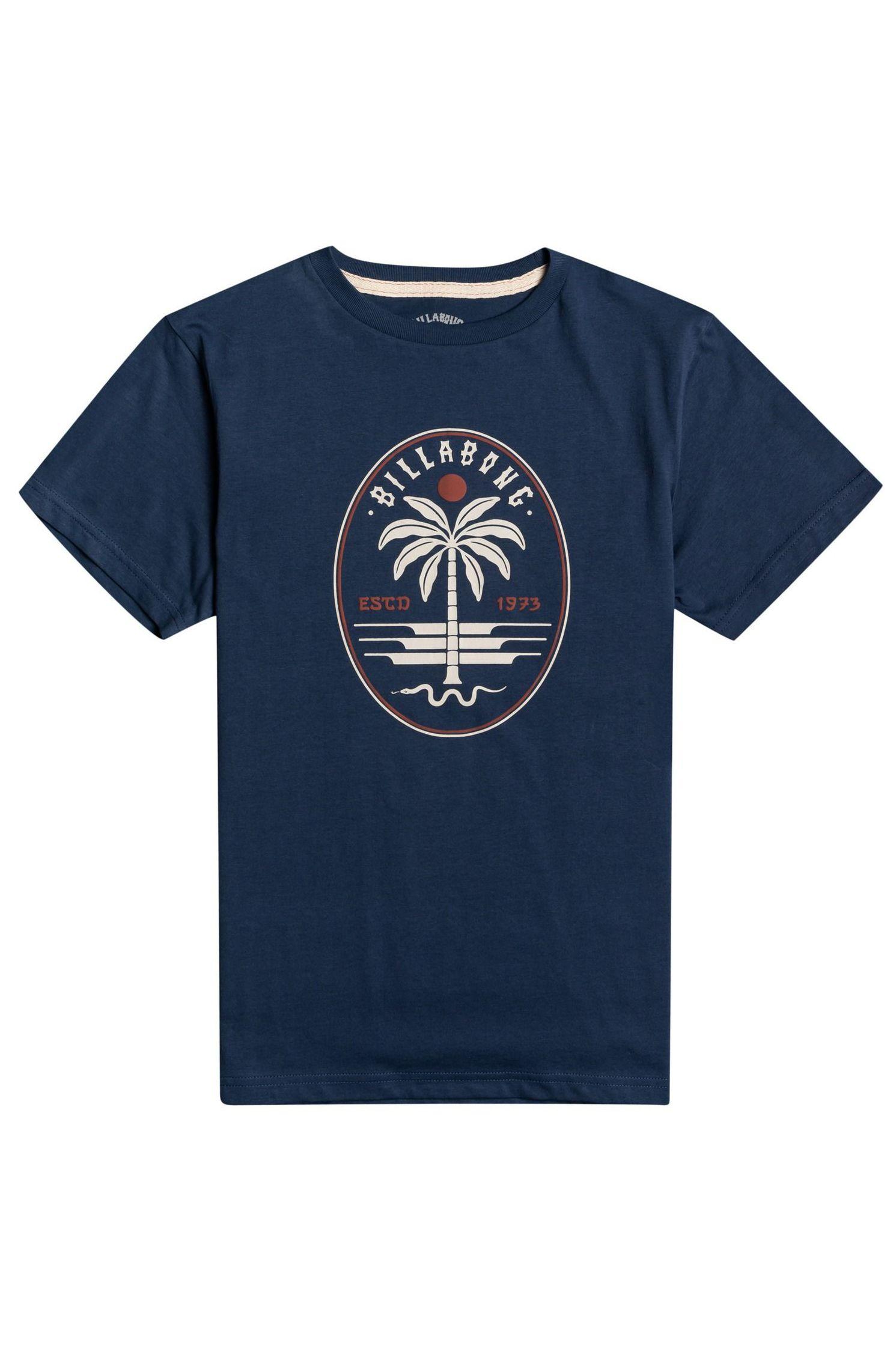 T-Shirt Billabong SNAKE SET SS BOY SPORTING GOOD PROGR. Denim Blue