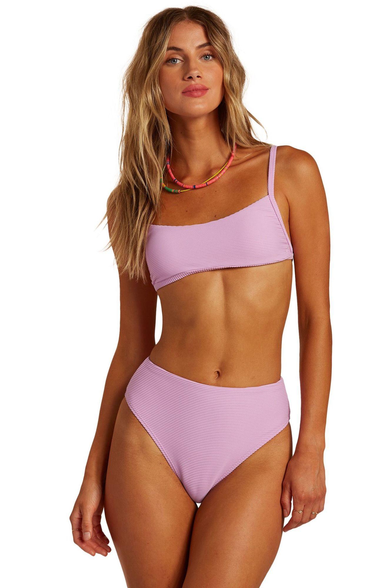 Bikini Top Billabong TANLINES BRALETTE PIPE MASTER Lit Up Lilac