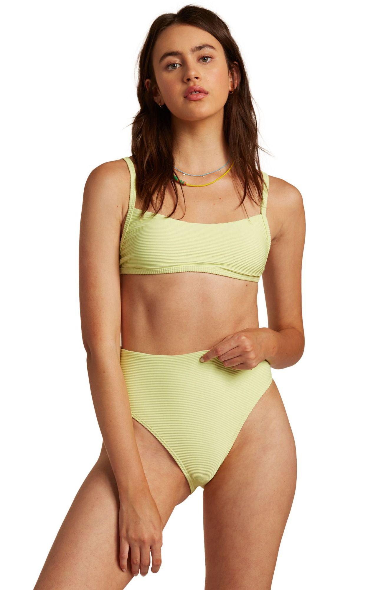 Bikini Top Billabong TANLINES BRALETTE PIPE MASTER Shadow Lime