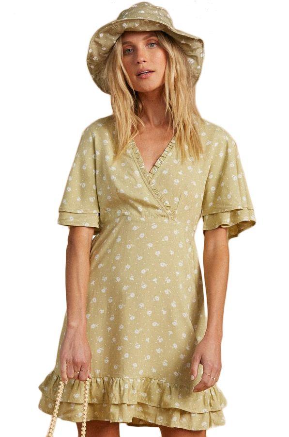 Vestido Billabong IN BLOOM SALTY BLONDE Matcha