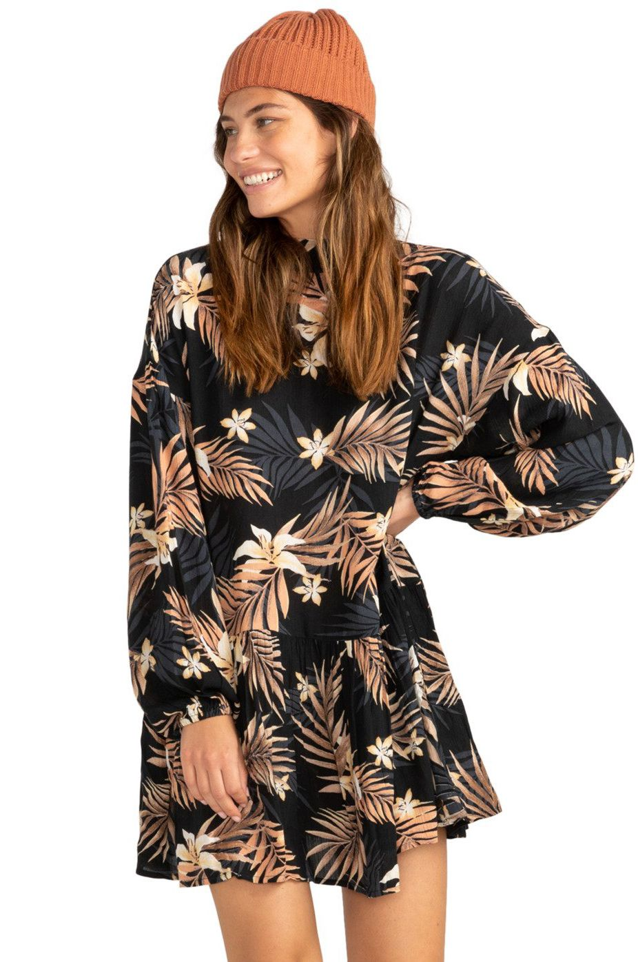 Billabong Dress HAPPY MIND PARADISE FOUND Black Multi