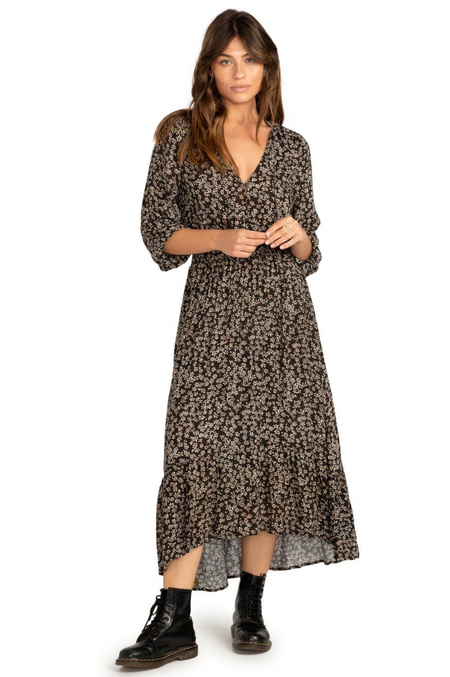 Billabong Dress GOOD VIBRATIONS PARADISE FOUND Off Black