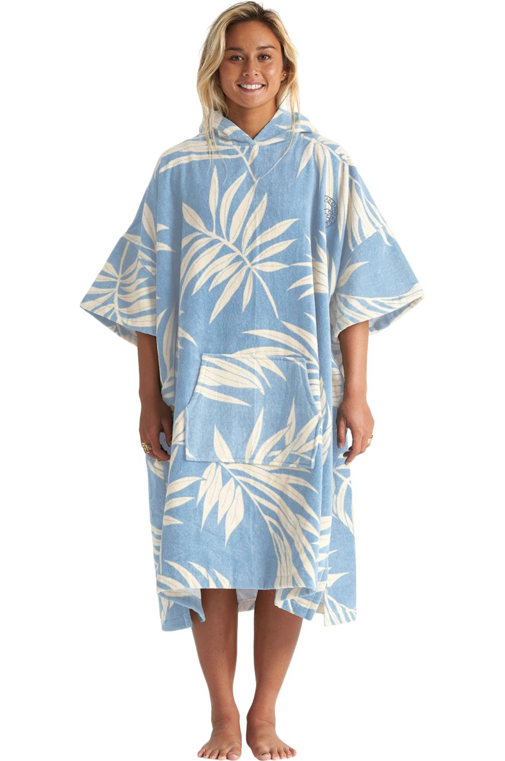 Poncho Billabong HOODED TOWEL Blue Palms