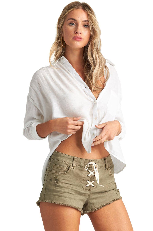 Billabong Shirt SWEET MOVES A DAY DREAM AWAY Salt Crystal