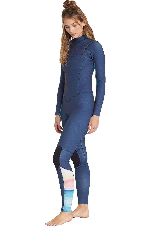 Fato Neoprene Billabong SALTY DAYZ FULLST 43 SURF CAPSULE Blue Swell 4x3mm