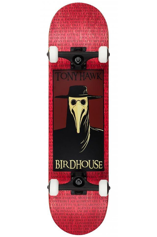"Street Skate Birdhouse 8"" PLAGUE DOCTOR Red"