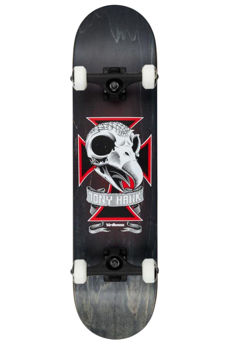 """Street Skate Birdhouse 8.125"""" SKULL 2 Black"""