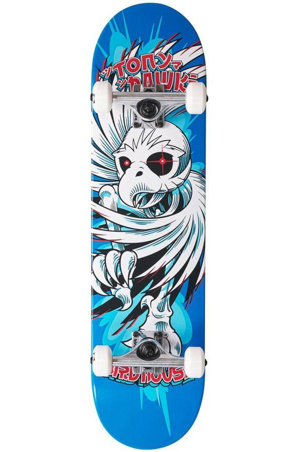 "Street Skate Birdhouse 7.75"" HAWK SPIRAL Blue"