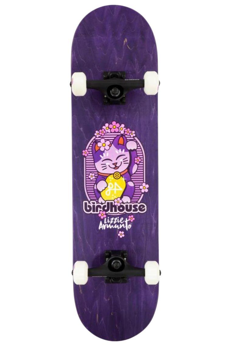 """Street Skate Birdhouse 8"""" ARMANTO MANEKI NEKO Purple"""